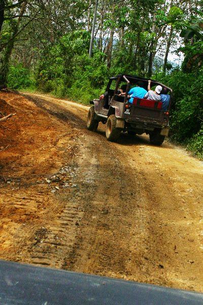 前往白葉山的路上需經過彎彎曲曲的路。