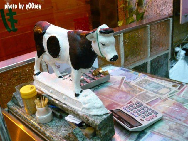 顺义牛奶公司柜台的可爱牛牛